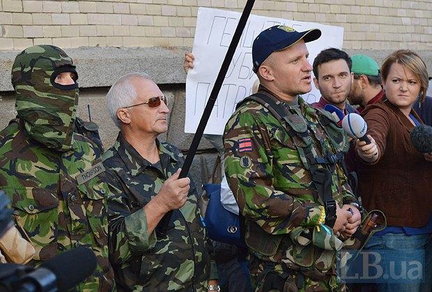 Добровольцы из «Днепра-1» пикетируют Администрацию Президента (ФОТО), фото-5