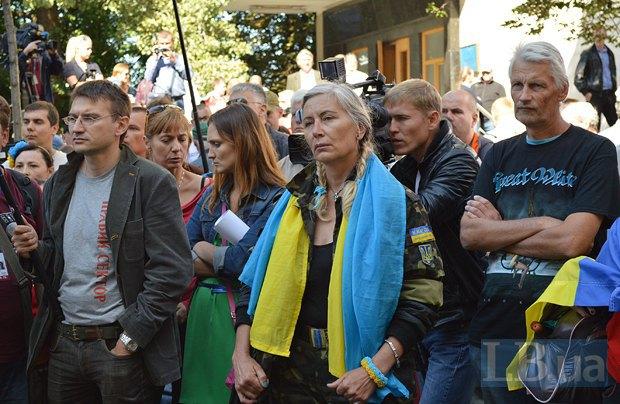 Добровольцы из «Днепра-1» пикетируют Администрацию Президента (ФОТО), фото-14