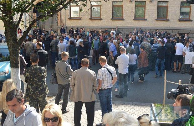 Добровольцы из «Днепра-1» пикетируют Администрацию Президента (ФОТО), фото-2