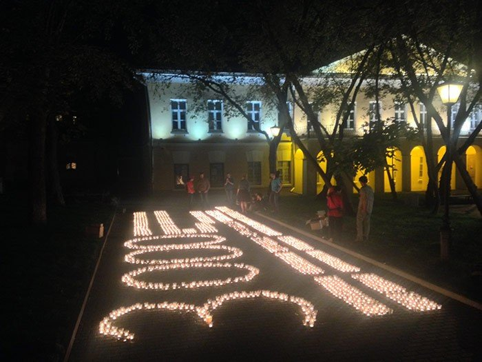 В Москве в память о погибших украинцах зажгли три тысячи свечей (ФОТО), фото-2