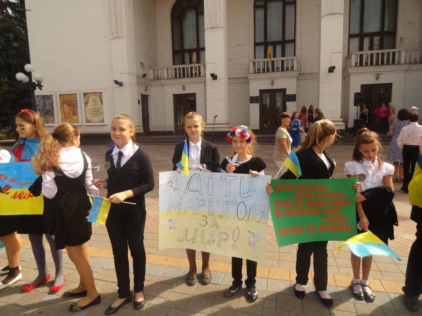 Мариупольские дети перекрыли движение в центре города и требовали мира (ФОТОРЕПОРТАЖ), фото-4