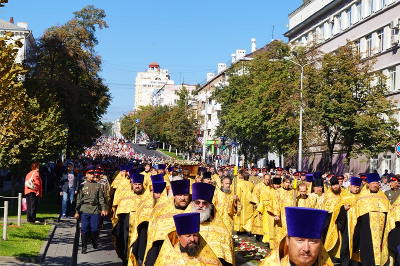 По Белгороду пронесли мощи Святителя Иоасафа, фото-2