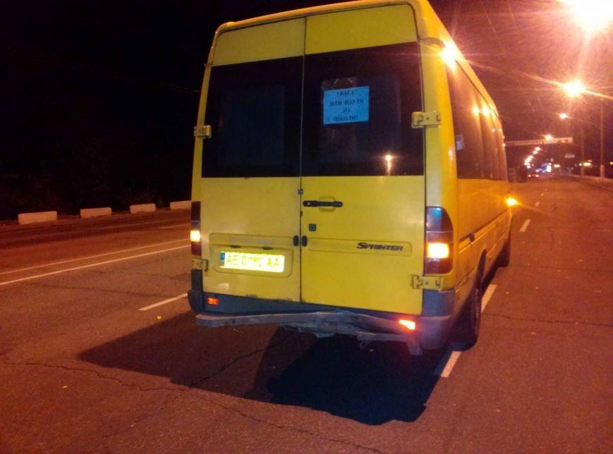 На Старом мосту в Днепропетровске мотоцикл врезался в маршрутку (ФОТО), фото-2