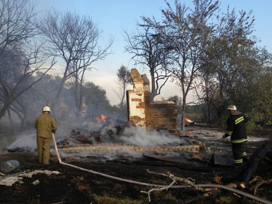 Масштабный пожар тушили спасатели из Чернигова, Остра и Славутича, фото-5