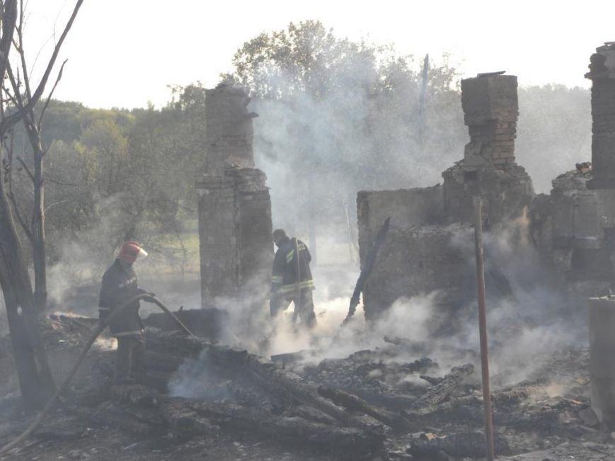 Масштабный пожар тушили спасатели из Чернигова, Остра и Славутича, фото-3