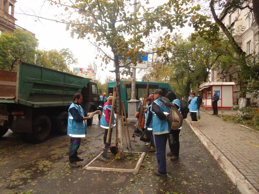 Волонтеры помогают убирать деревья на улицах Мариуполя (ФОТО), фото-3