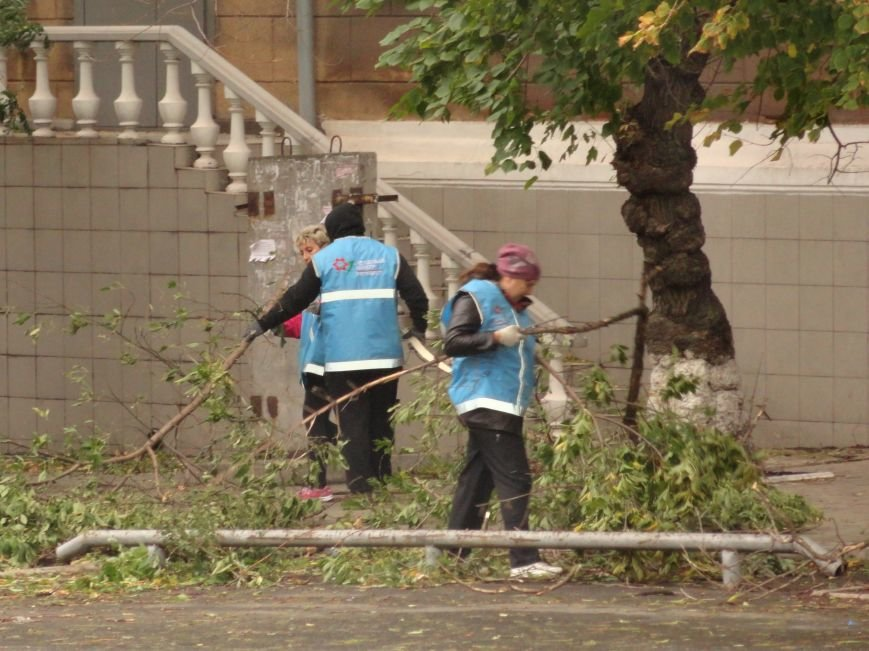 Волонтеры помогают убирать деревья на улицах Мариуполя (ФОТО), фото-8