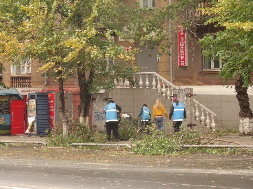 Волонтеры помогают убирать деревья на улицах Мариуполя (ФОТО), фото-10