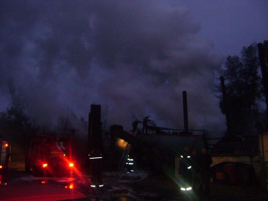 Этой ночью в Кременчуге горела цистерна с битумом (ФОТО), фото-1