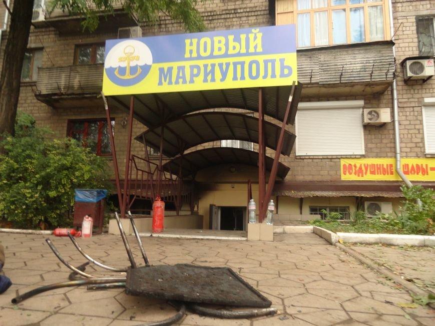 Подожгли офис волонтерской организации «Новый Мариуполь» (ФОТОРЕПОРТАЖ+ВИДЕО), фото-1