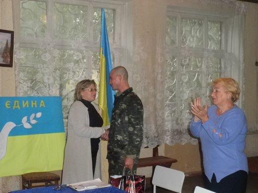 В Днепродзержинском центре по подготовке и переподготовке рабочих кадров состоялась встреча с бойцом АТО, фото-4