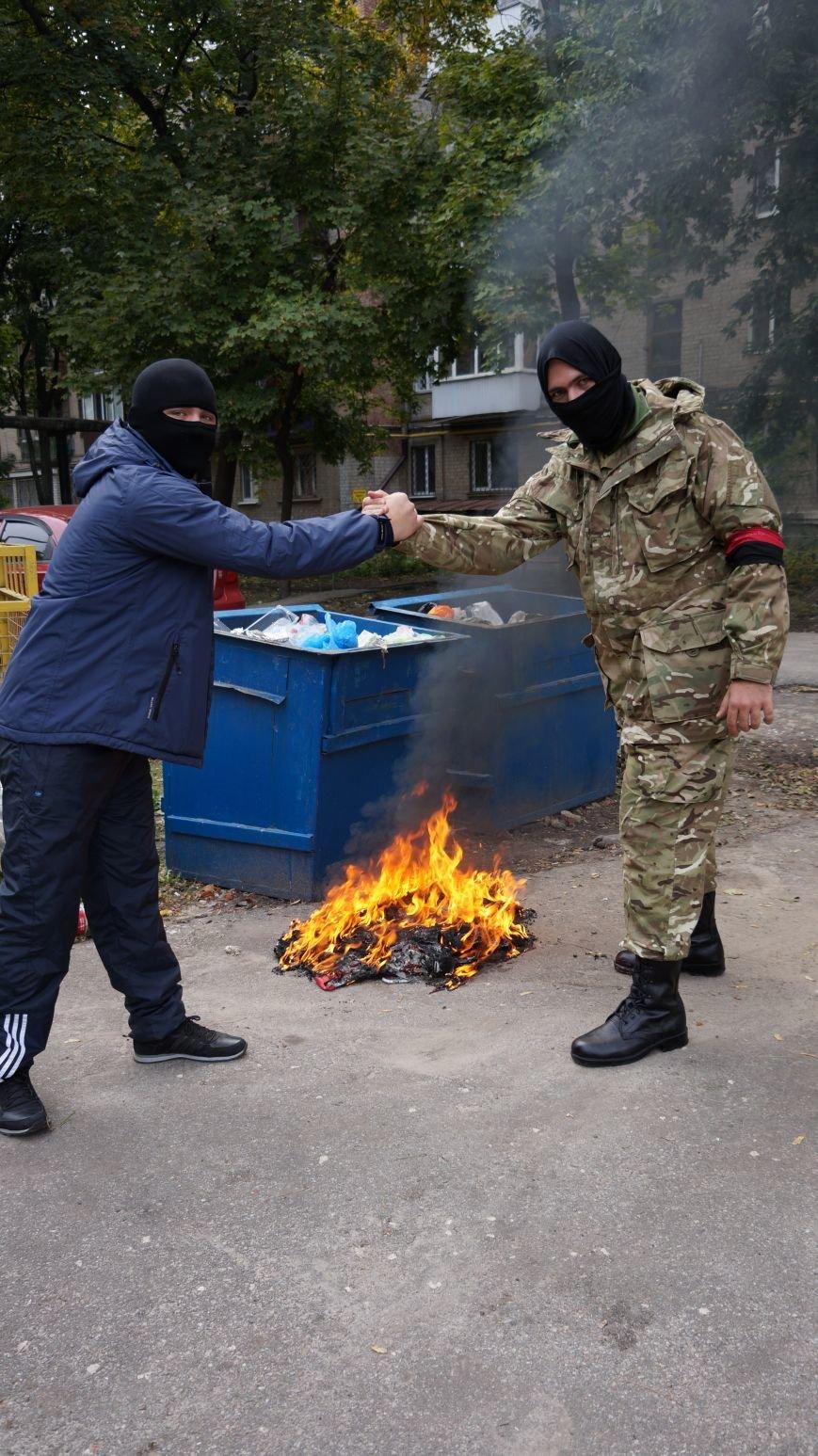 Ответственность за разгром палатки коммунистов на ЮЖД взял на себя «Правый Сектор»: ФОТО+ВИДЕО, фото-8