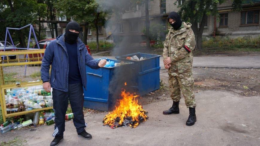 Ответственность за разгром палатки коммунистов на ЮЖД взял на себя «Правый Сектор»: ФОТО+ВИДЕО, фото-7