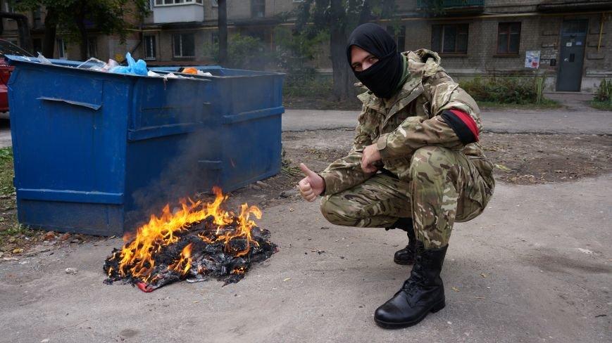 Ответственность за разгром палатки коммунистов на ЮЖД взял на себя «Правый Сектор»: ФОТО+ВИДЕО, фото-6