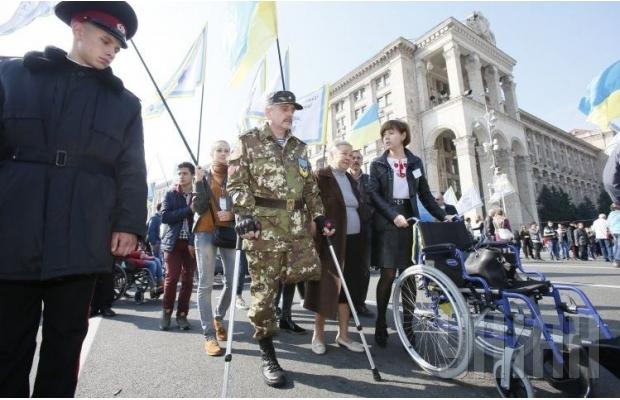 В Киеве люди с особыми потребностями провели Марш мира (ФОТО, ВИДЕО), фото-4