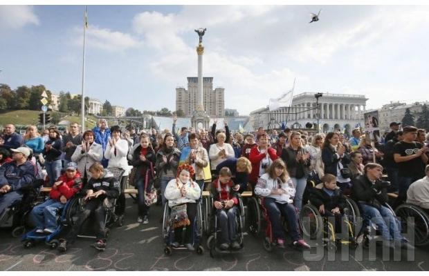 В Киеве люди с особыми потребностями провели Марш мира (ФОТО, ВИДЕО), фото-9