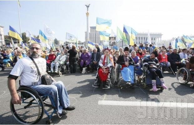 В Киеве люди с особыми потребностями провели Марш мира (ФОТО, ВИДЕО), фото-8