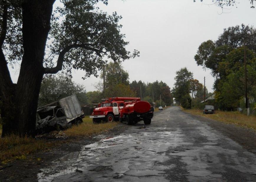 На Сумщине очевидцы аварии вытащили водителя из горящего грузовика (ФОТО), фото-1