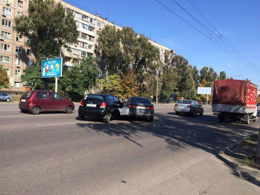 На Победе в Днепропетровске столкнулись три автомобиля (ФОТО), фото-1