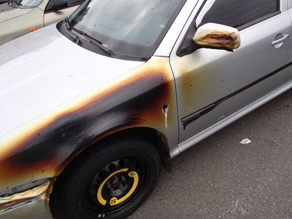 В Киеве на автостоянке сгорел  Huindai Tucson (ФОТО), фото-1
