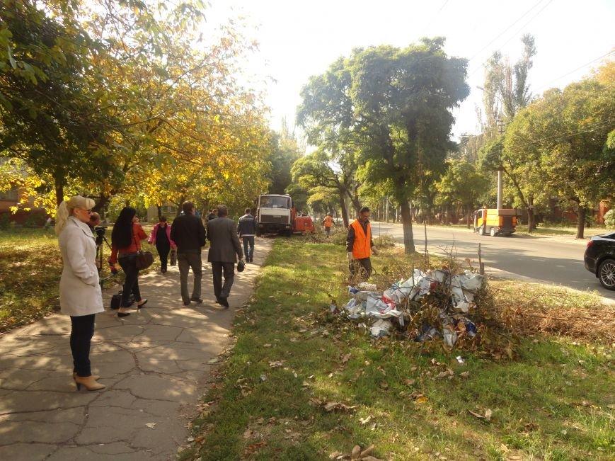 Коммунальщики убрали в Жовтневом районе Мариуполя около 70 кубометров поваленных деревьев (ФОТОРЕПОРТАЖ), фото-1