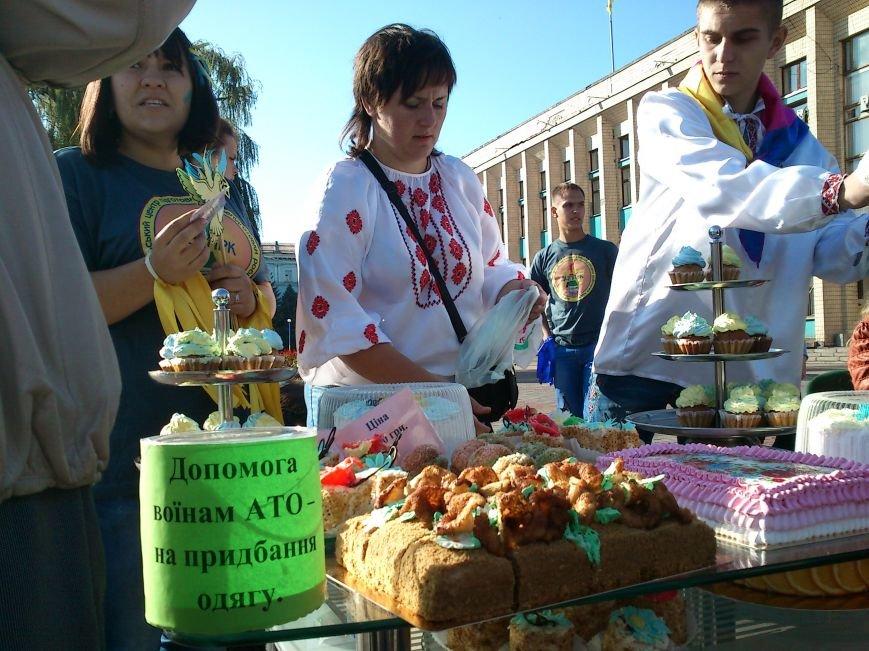 В центре Днепродзержинска проходит акция «Молодежь профессионально-технического образования - за мир», фото-3