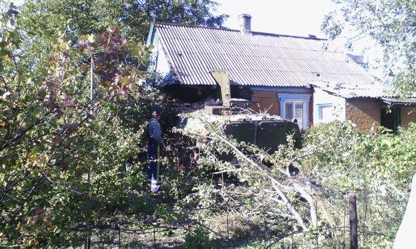 В Авдеевке БМП влетел в дом (ФОТО, ВИДЕО), фото-7