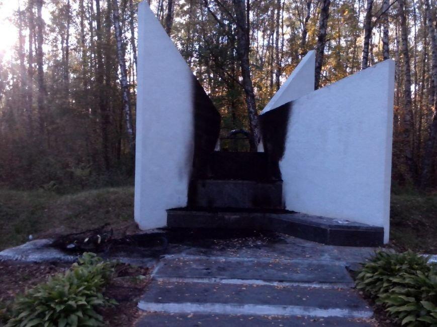 В Чернигове горела братская могила времен второй мировой войны, фото-5