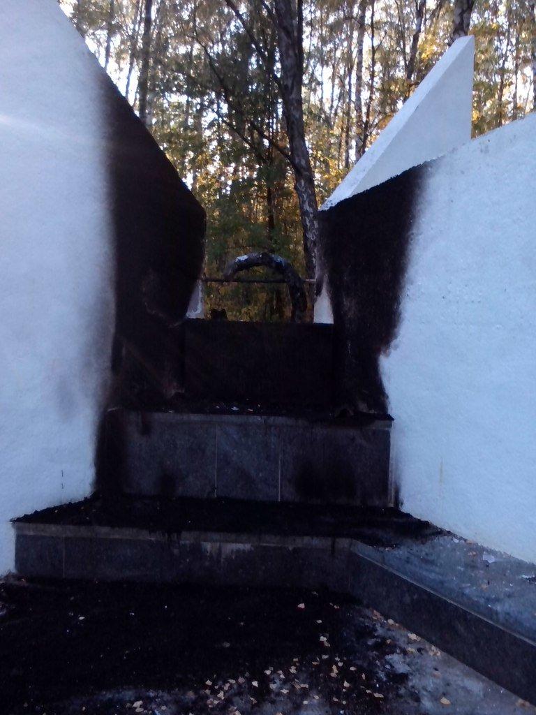 В Чернигове горела братская могила времен второй мировой войны, фото-6