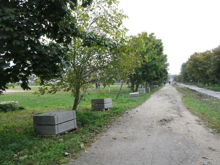 """У Тернополі розпочали облаштовувати пішохідні доріжки в парку """"Топільче"""" (фото), фото-2"""
