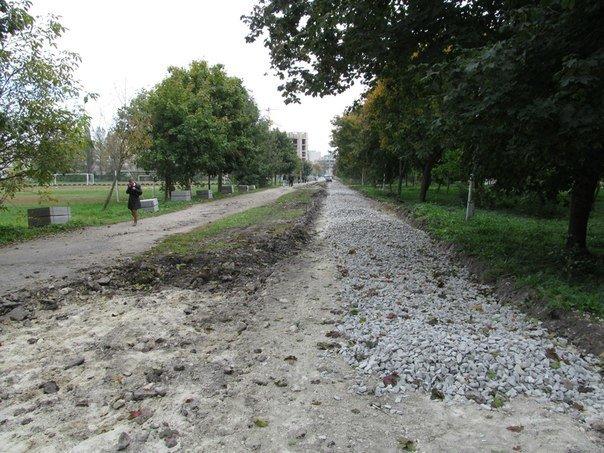 """У Тернополі розпочали облаштовувати пішохідні доріжки в парку """"Топільче"""" (фото), фото-1"""