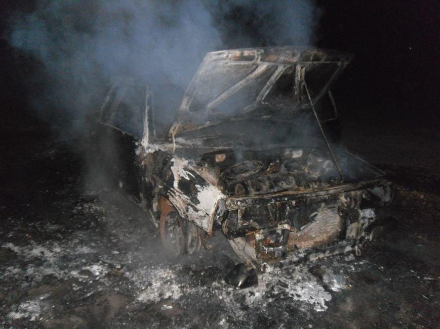 Ночью на левом берегу Днепродзержинска сгорел автомобиль, фото-1
