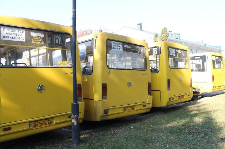 В Сумах перевозчики опять  «продают» маршрутки на пл. Независимости (ФОТО), фото-6