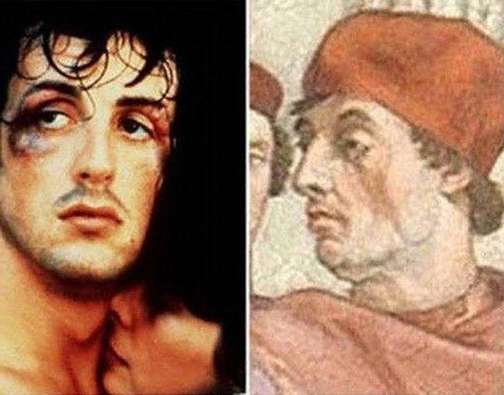 Поразительное сходство голливудских знаменитостей и их исторических двойников, фото-5