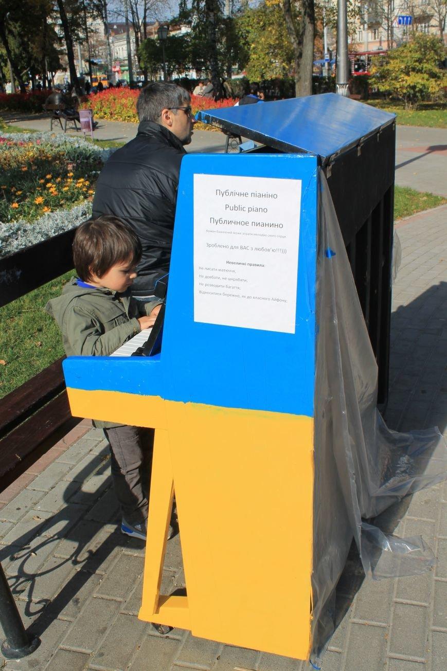В Сумах возле Альтанки появилось желто-синее публичное пианино (ФОТО), фото-1