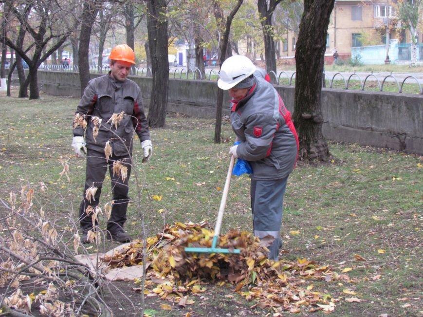 Мариупольские общественники и активисты оппозиционных сил очистили от листвы горбольницу №4 (ФОТОРЕПОРТАЖ), фото-9
