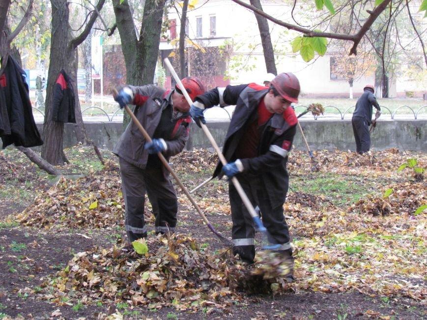 Мариупольские общественники и активисты оппозиционных сил очистили от листвы горбольницу №4 (ФОТОРЕПОРТАЖ), фото-18