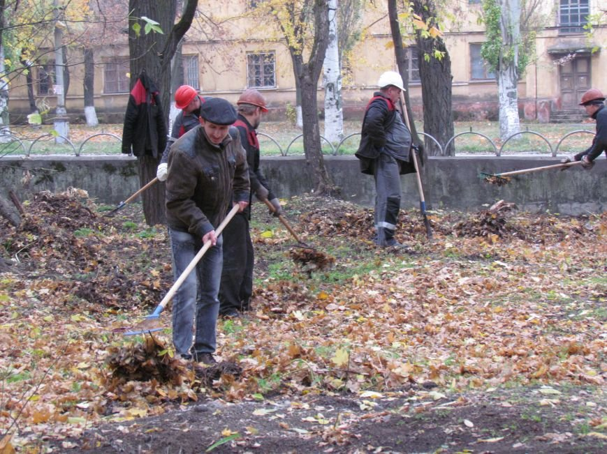 Мариупольские общественники и активисты оппозиционных сил очистили от листвы горбольницу №4 (ФОТОРЕПОРТАЖ), фото-21