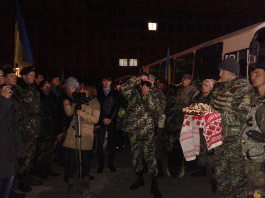 В Сумах встретили очередную группу пограничников, вернувшихся  из зоны АТО (ФОТО), фото-3
