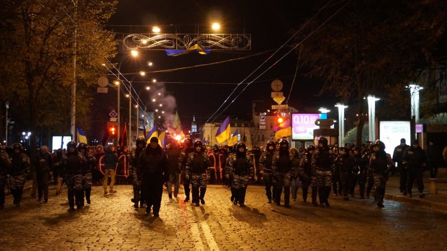 Марш «Последнего сопротивления старой власти» в Харькове: мусорные баки и сожжение агитационных листовок (фото+видео), фото-3