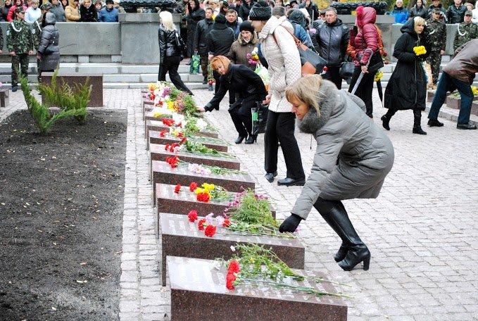 2014.10.24_ЦГОК_ПСП_Открытие мемориала_70 лет освобождения Украины (178)