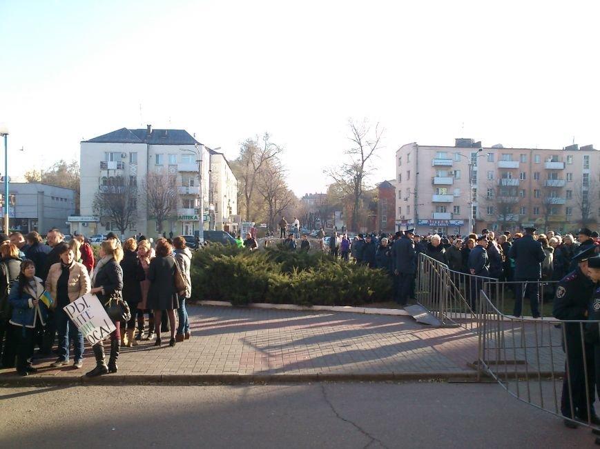 В Днепродзержинске работники предприятий кандидатов Захорольского и Дубинина митингуют за своих работодателей, фото-9