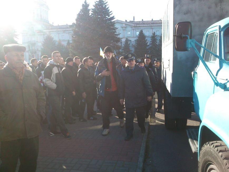 В Днепродзержинске работники предприятий кандидатов Захорольского и Дубинина митингуют за своих работодателей, фото-7
