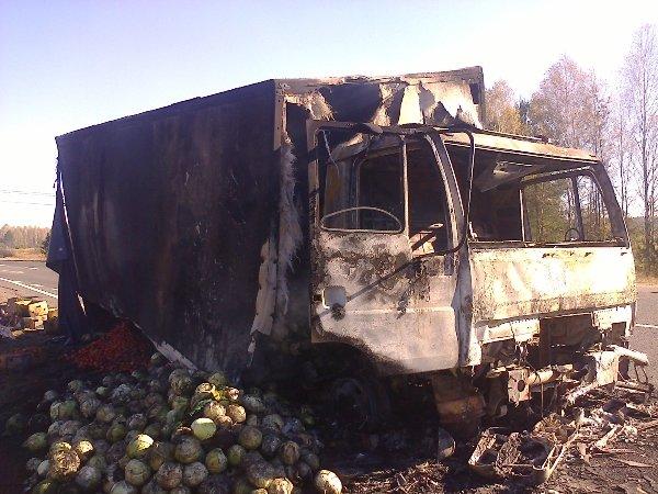 На Рівненщині горіла вантажівка (Фото), фото-1