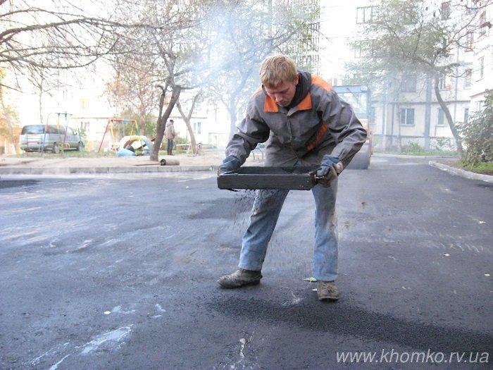 У Рівному на Костромській практично поклали 536 тон асфальту (Фото), фото-4