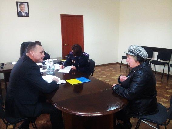 Главный милиционер Херсонщины провел прием граждан, фото-1