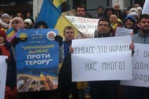 Украинский Донбасс протестовал против псевдовыборов в ДНР и ЛНР (ФОТО), фото-1