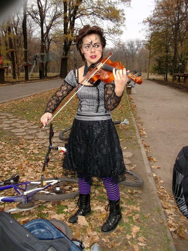 В Кривом Роге черти и ведьмы катались на велосипедах (ФОТО), фото-16