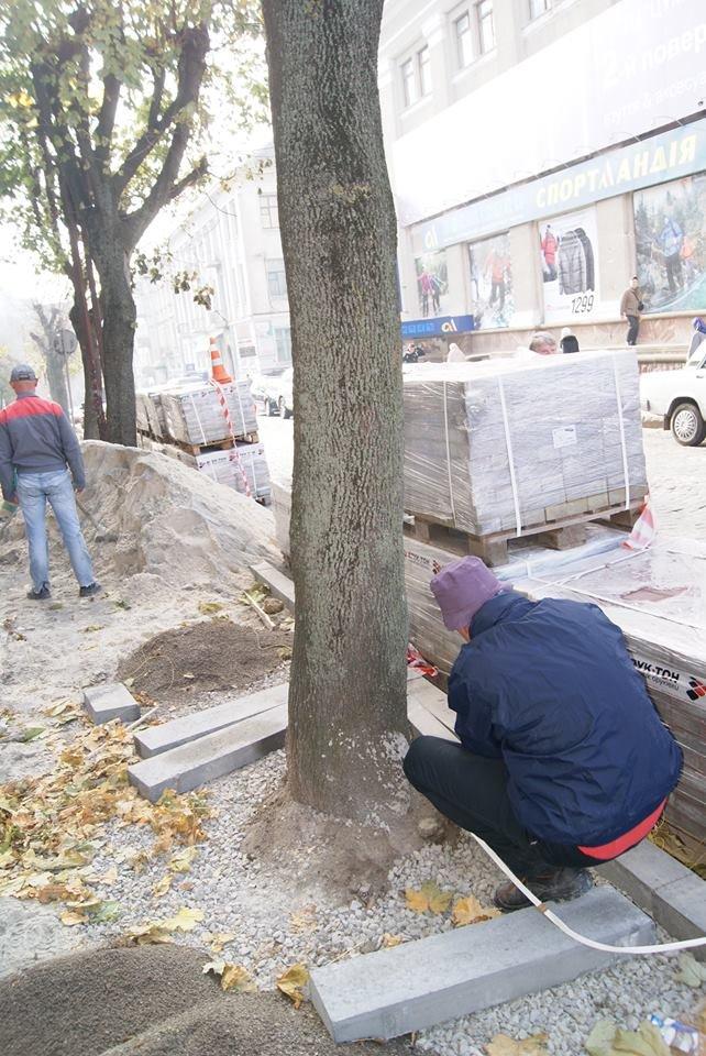 В центрі Тернополя стелять нову бруківку (фото), фото-3