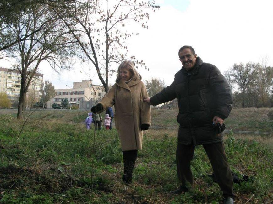 На центральной аллее парка «Правды» криворожане высадили 400 саженцев берез (ФОТО, ВИДЕО), фото-2